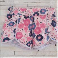 Shorts floral - 6 anos - etiqueta foi cortada