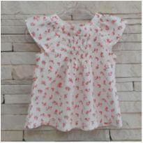 Blusa bata floral CARTERS - 9 meses - Carter`s