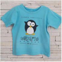 Camiseta aquário de Santos - 4 anos - etiqueta foi cortada