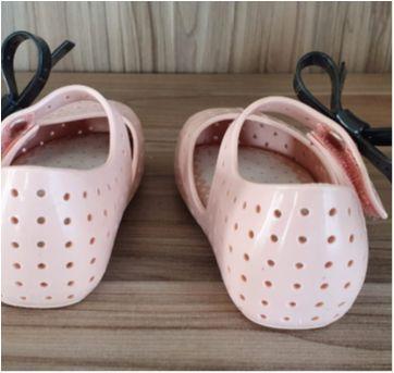 mini melissa furadinha rosê com laço preto - 19 - Melissa