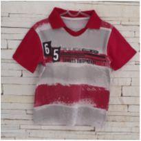 Camiseta gola polo - 4 anos - etiqueta foi cortada