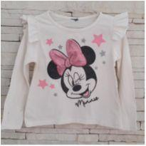 Blusa manga longa Minnie - 4 anos - etiqueta foi cortada