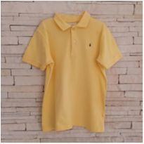 Camiseta gola polo amarelinha - 7 anos - Palomino