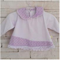 Blusa bata baby - 0 a 3 meses - etiqueta foi cortada