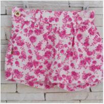 Shorts saia floral - 5 anos - etiqueta foi cortada