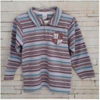 Camiseta gola polo listradinha - 2 anos - Ano Zero
