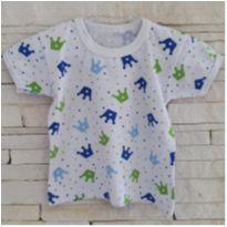 Camiseta pijama - 1 ano - etiqueta foi cortada