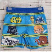 Shorts praia Star Wars - comprada na loja oficial - EUA - 4 anos - Star Wars