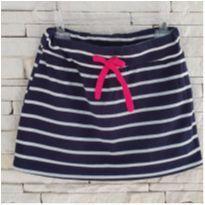 Saia shorts listradinho - 6 anos - TMX