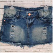 Shorts saia jeans - 6 anos - Mox jeans