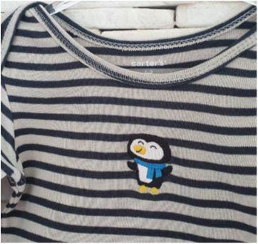 Body pinguim CARTERS - 1 ano - Carter`s