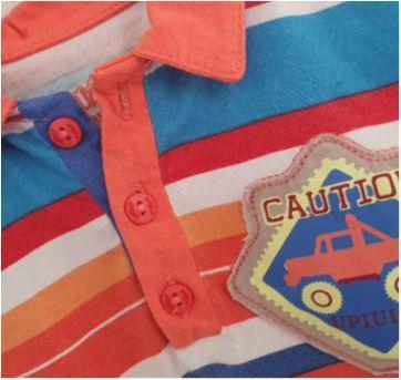 Camiseta gola polo colorida - 1 ano - Upi Uli