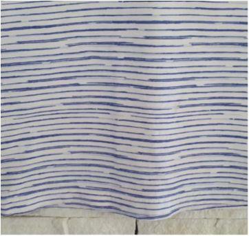 Camiseta cavada listradinha - 6 anos - etiqueta foi cortada