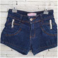 Shorts jeans com pérolas - 6 anos - Marca não registrada