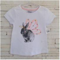 Camiseta coelhinha - NOVA - 3 anos - Bem vestir
