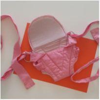 Canguru bebe passeio sling suporte para bebe até 15 kg rosa -  - Click kids