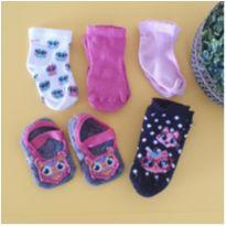 Kit 5 pares de meias - 3 meses - Diversas