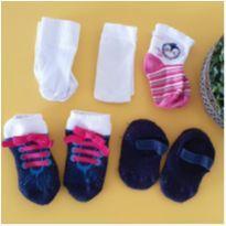 Kit 4 pares de meias - 6 meses - Diversas