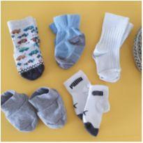 Kit 5 pares de meias - 6 meses - Diversas
