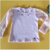 Blusa linda com manga rendada - 2 anos - Club Zero