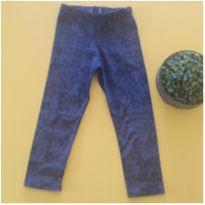Calça floral azul - 4 anos - etiqueta foi cortada