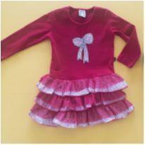 Vestido vermelho fofo - 2 anos - CIC Malhas