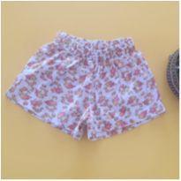 Shorts floral - 2 anos - etiqueta foi cortada