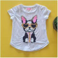 Blusa cachorrinho lantejoulas que mudam de cor - 3 anos - Nosh