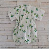 Macacão estilo Kimono sapinhos - 3-6 meses - 3 a 6 meses - Importada