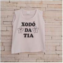 Camiseta cavada xodó da titia - Tam. 3-4 anos - 3 anos - Marca não registrada