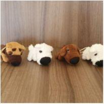 4 cachorrinhos mini pelúcia -  - Diversas