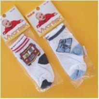 2 pares de meias nunca usados - Tam. 5-10 meses - menino - 6 meses - Marca não registrada