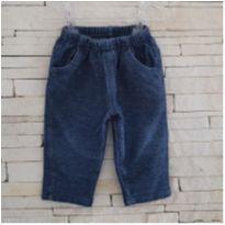 """Calça `jeans"""" molinho Tam. M (3/6 meses) menino - 3 a 6 meses - Ano Zero"""