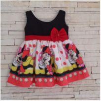 Vestido Minnie Tam. 12-18 meses - 12 a 18 meses - etiqueta foi cortada