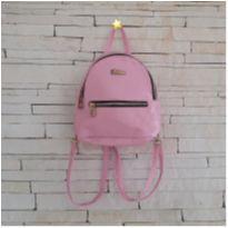 Bolsa mochila rosa -  - etiqueta foi cortada