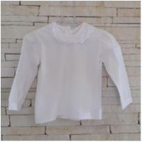 Blusa branca gola boneca Tam. 2 anos menina - 2 anos - etiqueta foi cortada