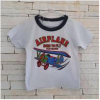 Camiseta airplane Tam. 12-18 meses menino - 12 a 18 meses - etiqueta foi cortada