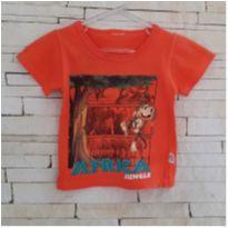 Camiseta selva Tam. 6 meses menino - 6 meses - etiqueta foi cortada