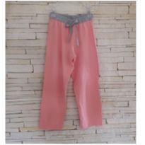 Calça rosa Tam. 4 meninia - 4 anos - etiqueta foi cortada