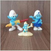 Coleção Smurfs 3 brinquedos -  - Mc Donald`s