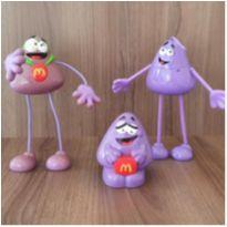Coleção 3 personagens Mc Donalds -  - Mc Donald`s