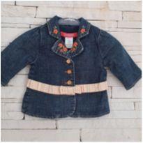 Jaqueta jeans com bordados florais Gymboree Tam. 3-6 meses - 3 a 6 meses - Gymboree