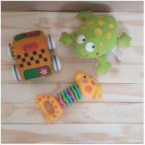 Trio de brinquedos para bebê -  - Fisher Price e Outras