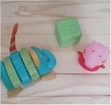 Trio brinquedos de bebê - Sem faixa etaria - Diversas