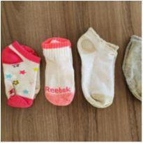 Kit com 5 meias para meninas - 2 anos - Importada e Nacional