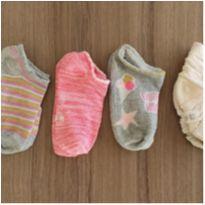 5 pares de meias. menina - 2 anos - Importada e Nacional