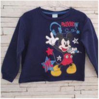 Blusa moletom Mickey Tam. 2 - 2 anos - Disney