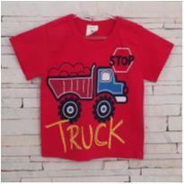 Camiseta vermelha trator Tam. 2 menino - 2 anos - Marca não registrada