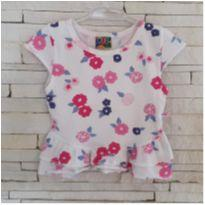 Blusa floral PUC Tam. 12-18 meses - 12 a 18 meses - PUC