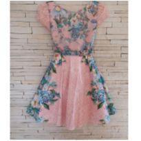 Vestido floral festa Tam. 14 - 14 anos - Ninali
